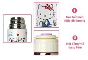 Bình Giữ Nhiệt Lock&Lock Hello Kitty Lovely Dot HKT300W (220ml)