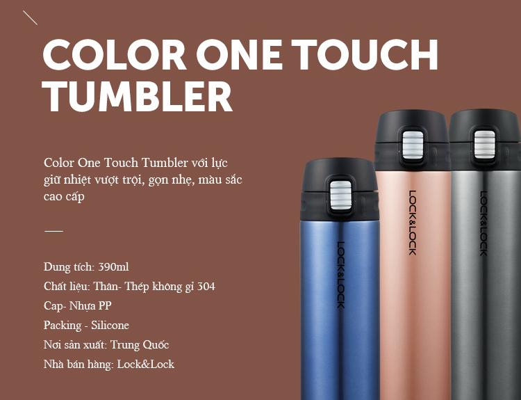 Bình nước giữ Nhiệt Lock&Lock Colorful Tumbler Funcolor
