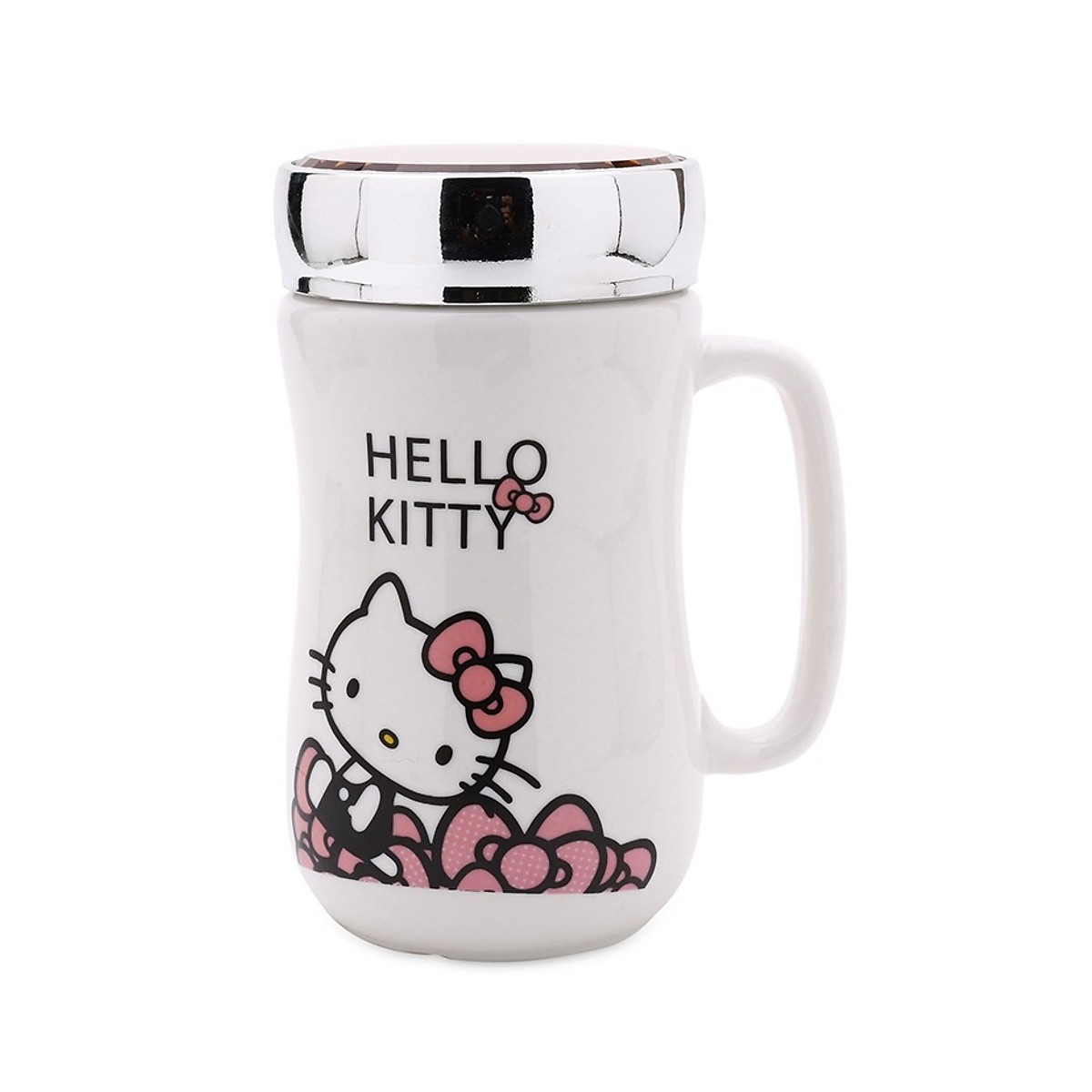 Ly Sứ Giữ Nhiệt Cao Cấp Hello Kitty