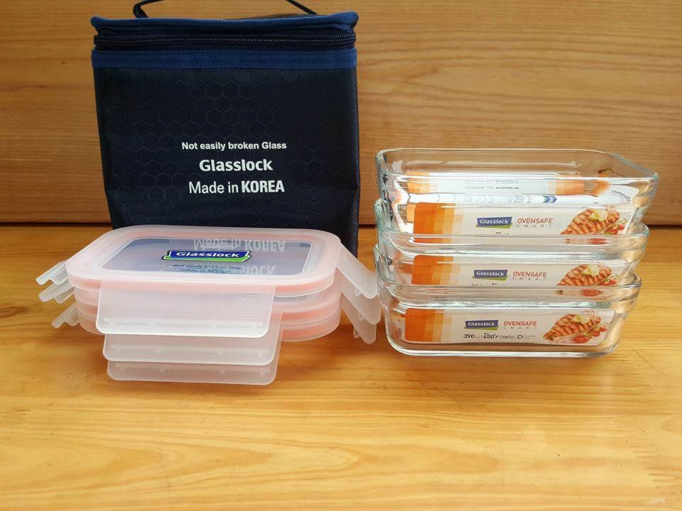 Bộ-Hộp-Cơm-Thủy-Tinh-Glasslock-390ml3-kèm-túi-giữ-nhiệt-2
