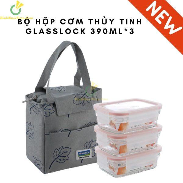 bo hop com thuy tinh glasslock 390ml3 7 1 Binhnuocteen