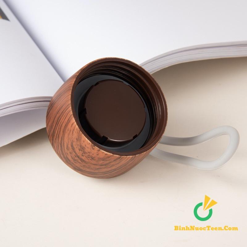 Bình giữ nhiệt nắp gỗ delicate q033 2