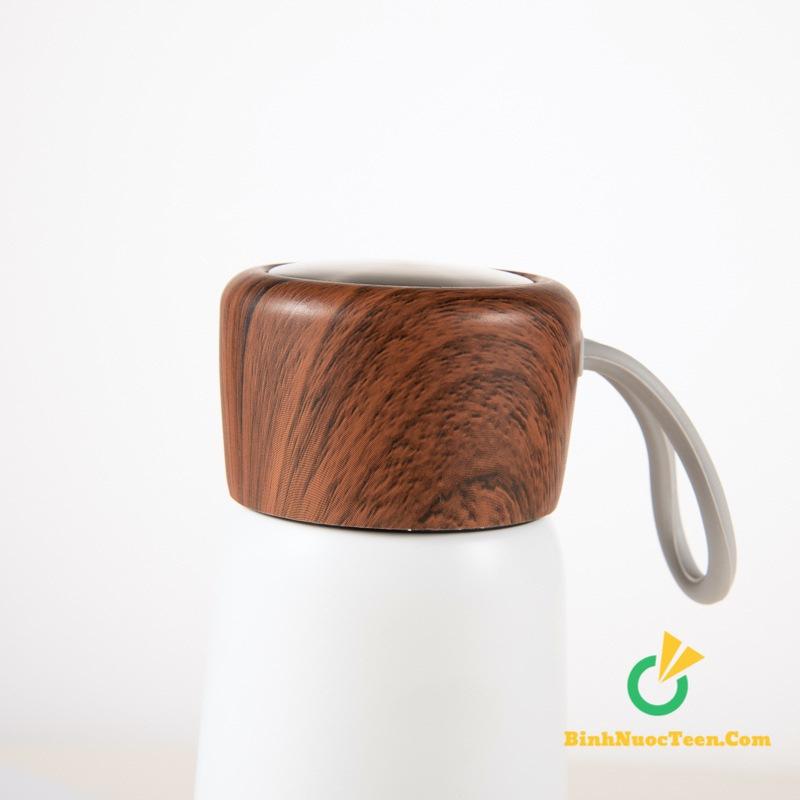 Bình giữ nhiệt nắp gỗ q033 3