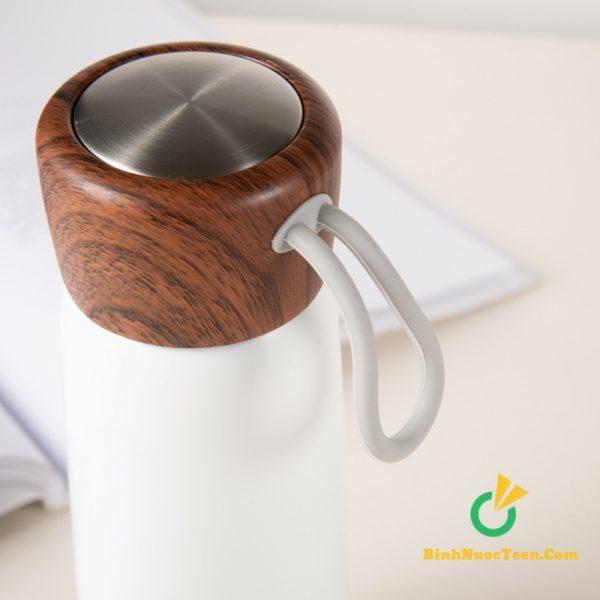 Bình giữ nhiệt nắp gỗ q033 5