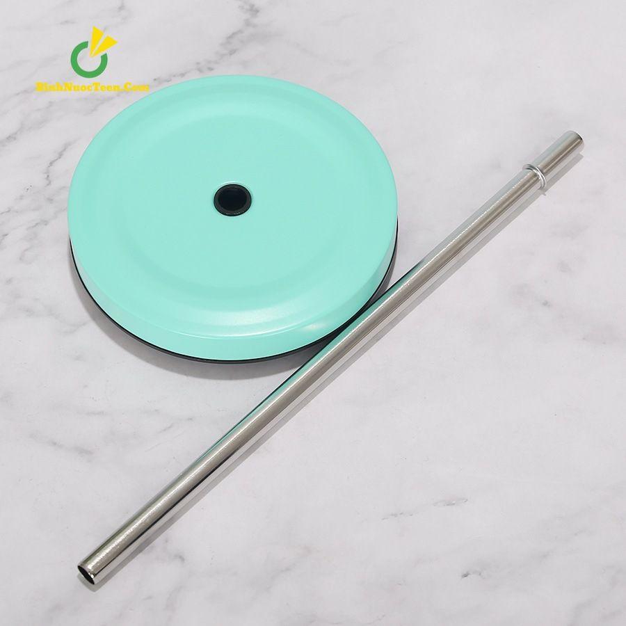 Ly Giữ Nhiệt Cafe 500ml Có Ống Hút Inox 304 Q209 2