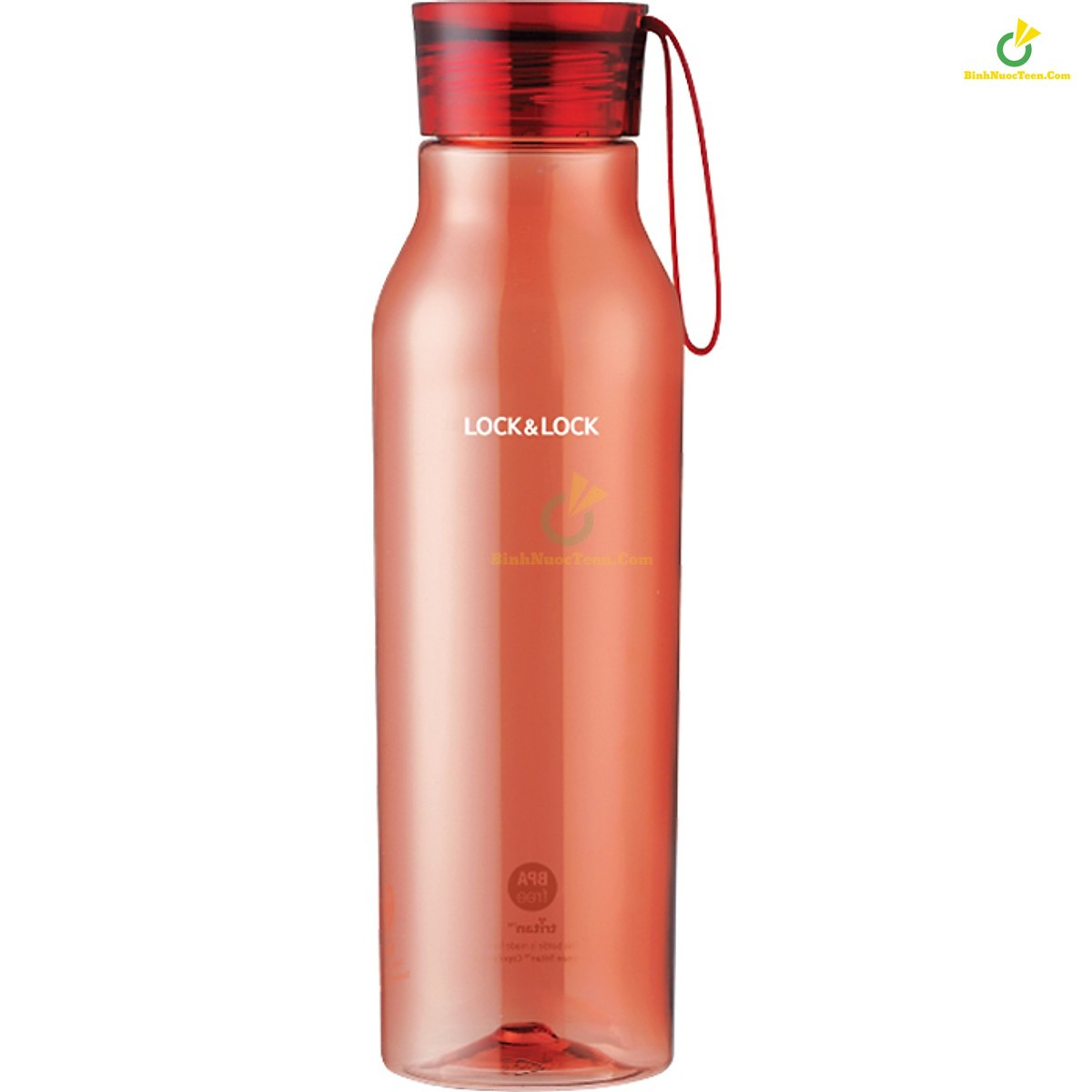 bình nước nhựa tritan lock&lock ABF664 750ml màu đỏ hồng