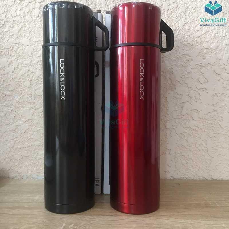 Bình giữ nhiệt Lock&Lock mocha vacuun bottle 750ml khắc logo doanh nghiệp làm quà tặng