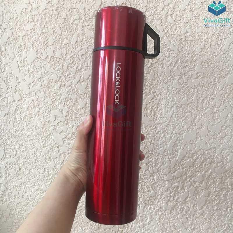 Bình giữ nhiệt Lock&Lock mocha vacuun bottle 750ml khắc logo doanh nghiệp