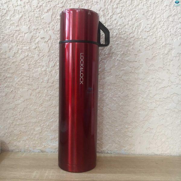 Bình giữ nhiệt Lock&Lock mocha vacuun bottle 750ml khắc theo yêu cầu