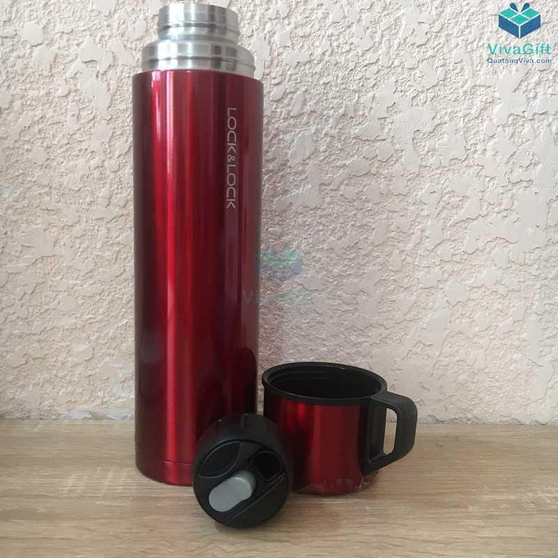 Bình giữ nhiệt Lock&Lock mocha vacuun bottle 750ml khắc tên theo yêu cầu làm quà tặng