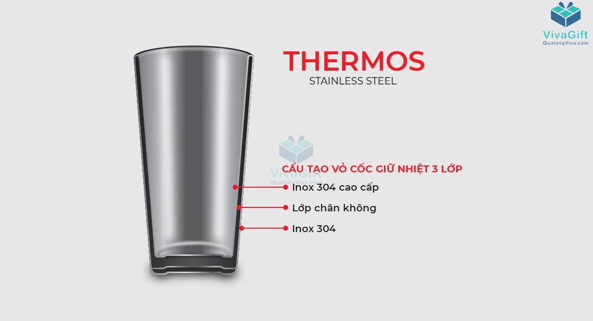 Cốc giữ nhiệt Elmich inox 304 890ml EL3677 có ống hút tiện lợi