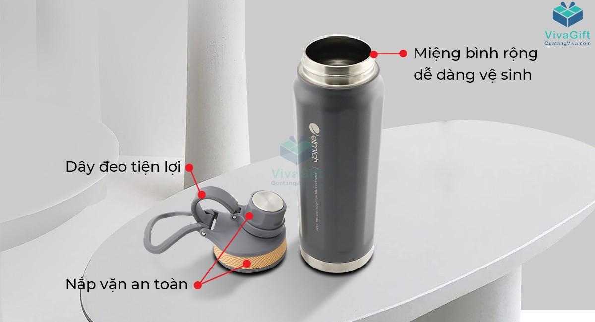 Bình giữ nhiệt Elmich inox 304 dung tích 532ml EL3675