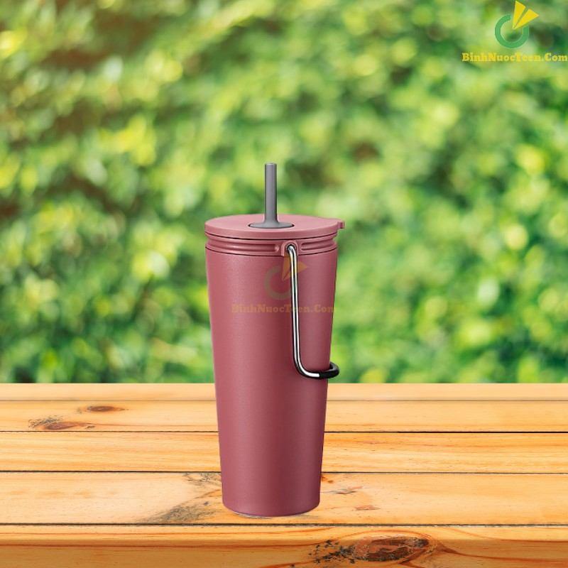 Bình giữ nhiệt có ống hút Lock&Lock Bucket Tumbler with Straw LHC4268 20