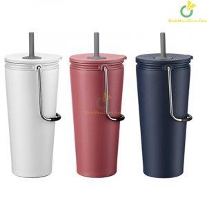 Bình giữ nhiệt có ống hút Lock&Lock Bucket Tumbler with Straw LHC4268 3