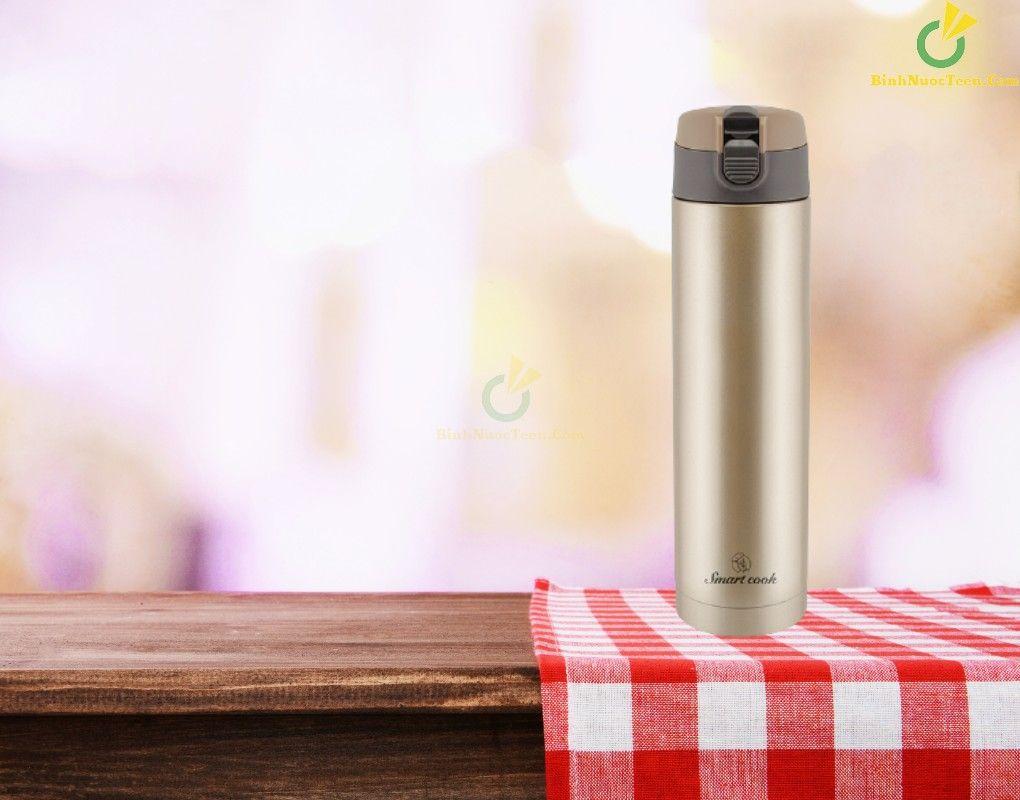 Bình giữ nhiệt Smart Cook inox 304 dung tích 450ml EDA0307 in logo doanh nghiệp