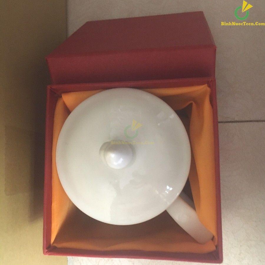 ly sứ có nắp đậy ls102 in logo quà tặng doanh nghiệp
