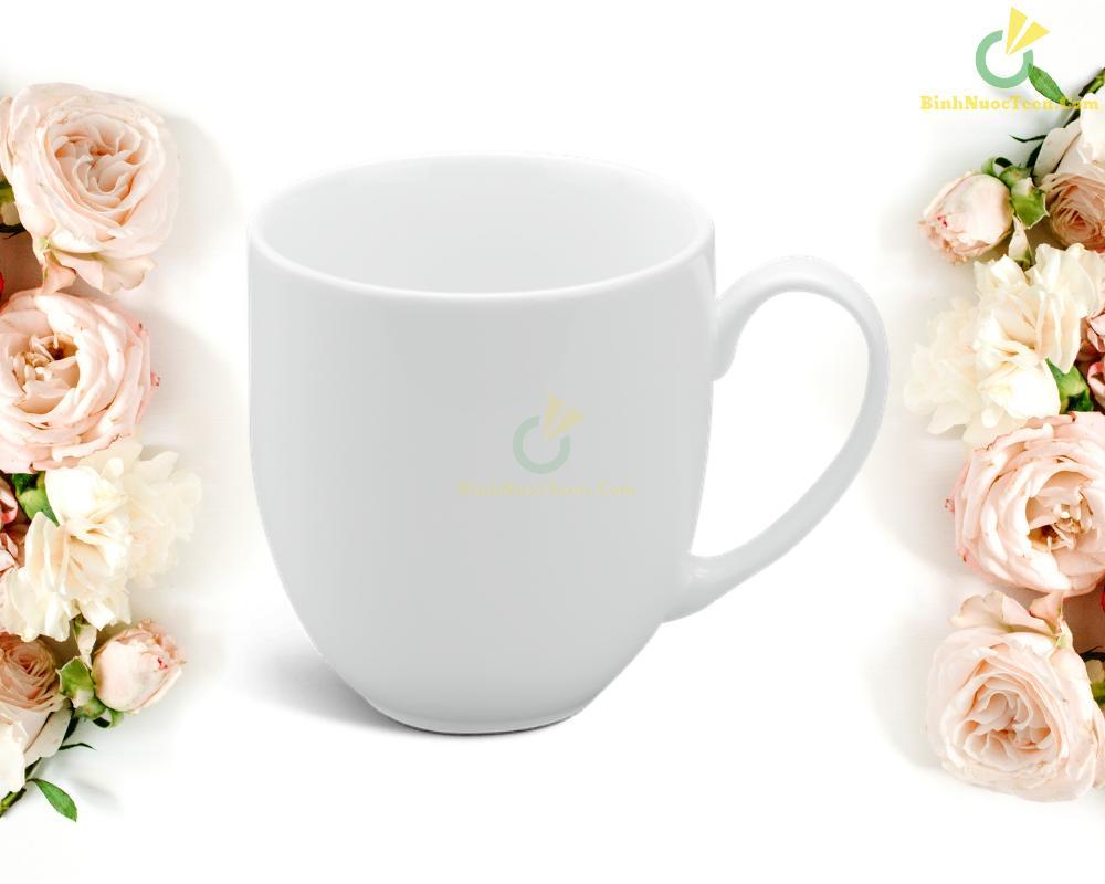 Ly Sứ Minh Long Trắng 0.4 L - Camellia - Trắng 2