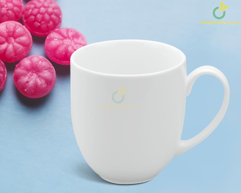 Ly Sứ Minh Long Trắng 0.4 L - Camellia - Trắng 4
