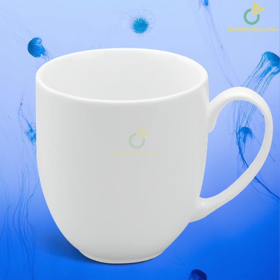 Ly Sứ Minh Long Trắng 0.4 L - Camellia - Trắng 8