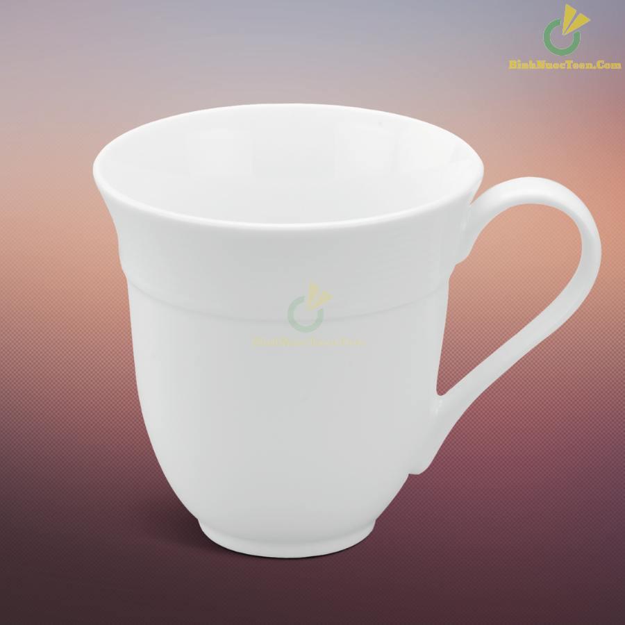 Ly Sứ Minh Long Sọc Loe – Camellia – Trắng – 0,4L 9