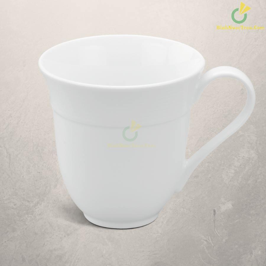 Ly Sứ Minh Long Sọc Loe – Camellia – Trắng – 0,4L 8