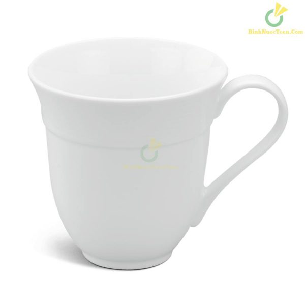 Ly Sứ Minh Long Sọc Loe – Camellia – Trắng – 0,4L 6