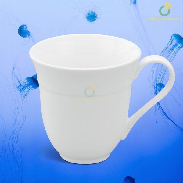 Ly Sứ Minh Long Sọc Loe – Camellia – Trắng – 0,4L 7