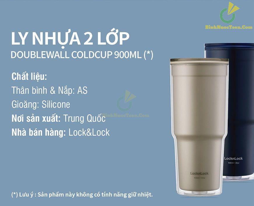Ly Nhựa 2 Lớp LocknLock 900ml HAP502 18