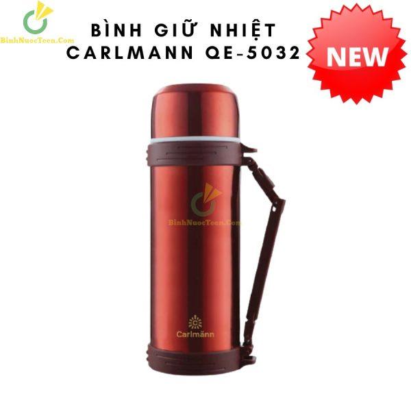 Bình Giữ Nhiệt Carlmann 1500ml Inox Màu Đỏ - QE-5032 6