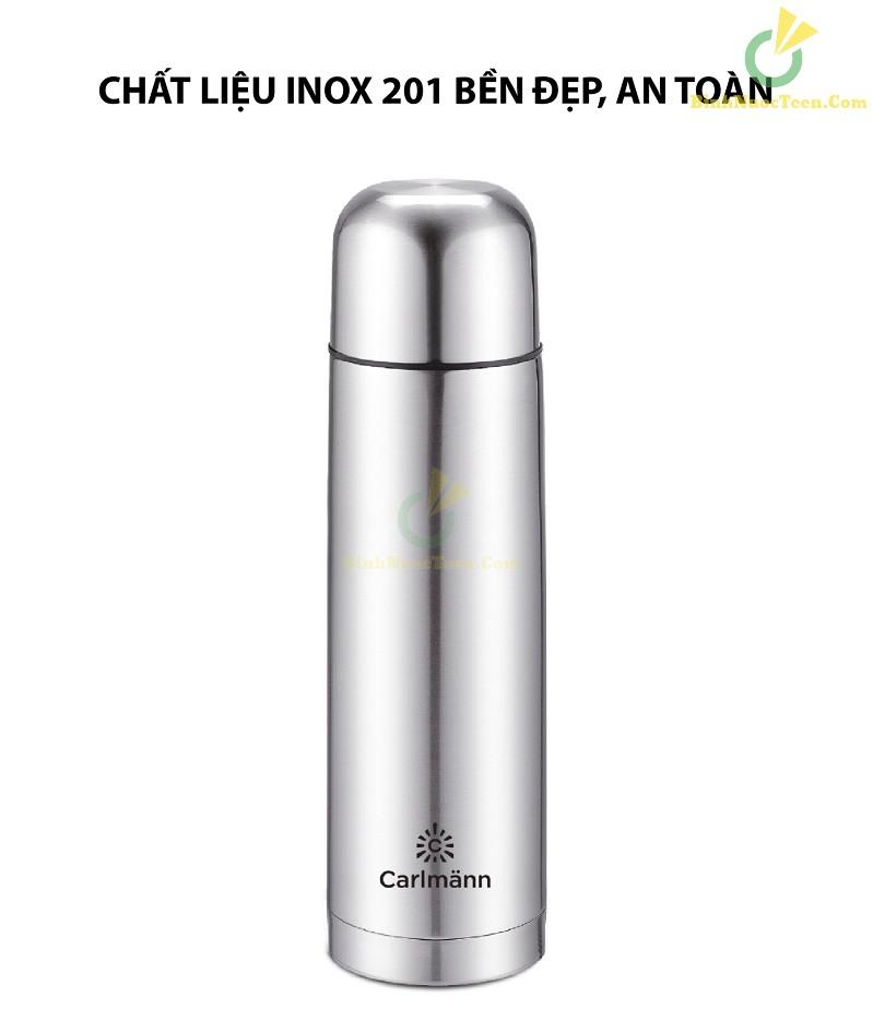 Bình Giữ Nhiệt 500ml Carlmann Inox - BES523 4