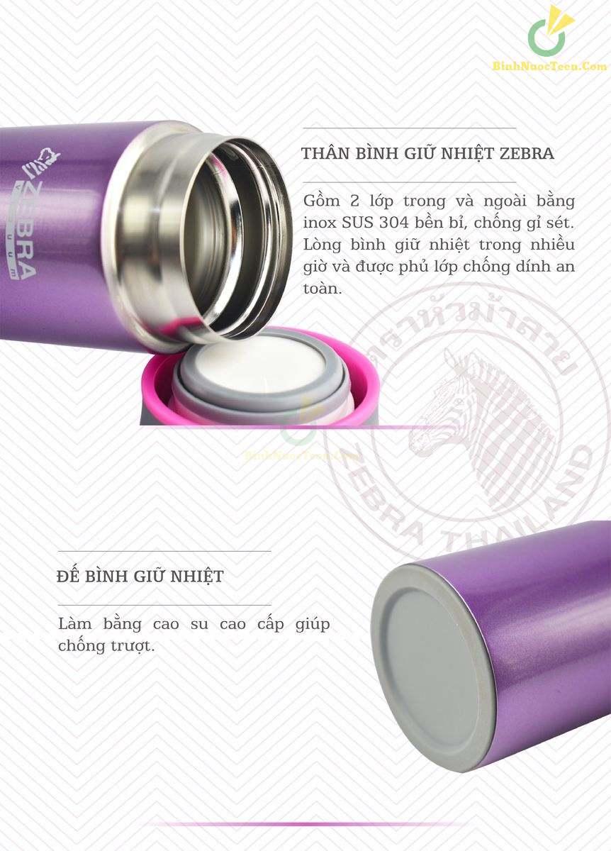 Bình Giữ Nhiệt ZEBRA - 112996 Zelect 400ml 4