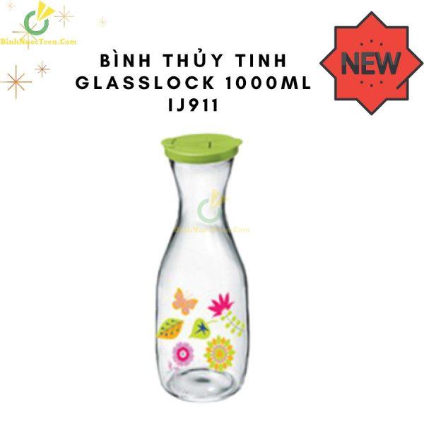 Bình Thuỷ Tinh Glasslock 1000ml IJ911 Hình Tròn In Logo 2