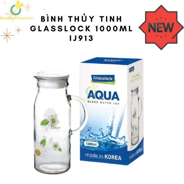 Bình Nước Thủy Tinh Glasslock 1000ml IJ913 In Logo Làm Quà Tặng 1