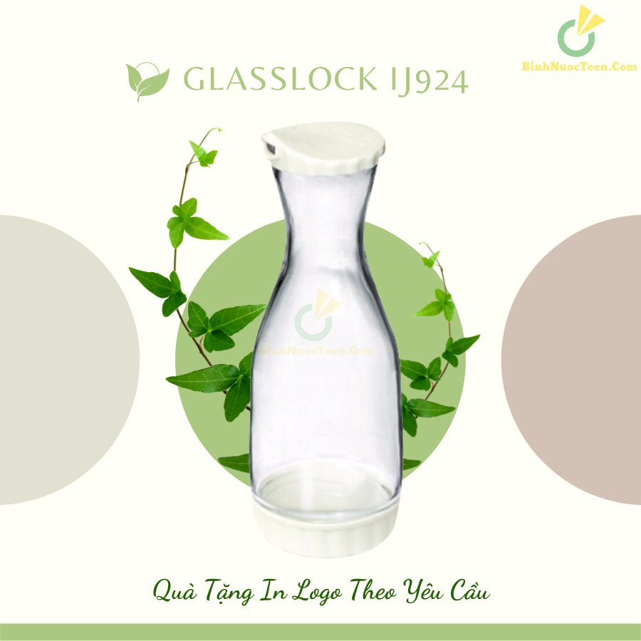 Bình Thủy Tinh Glasslock 1000ml IJ924 In Logo 8