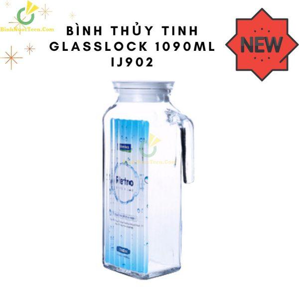 Bình Thủy Tinh Glasslock 1090ml IJ902 Trong Suốt Sang Trọng 1