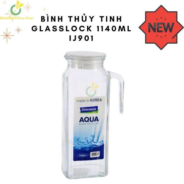 Bình Thủy Tinh Glasslock 1140ml IJ901 Quai Cầm Sang Trọng 1