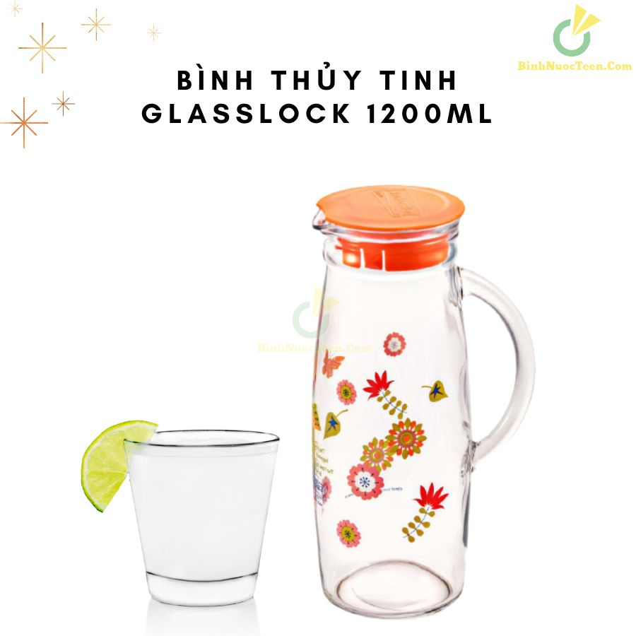 Bình Thủy Tinh Glasslock 1200ml IJ922 In Logo 4
