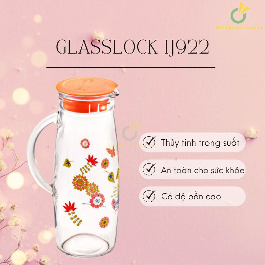Bình Thủy Tinh Glasslock 1200ml IJ922 In Logo 19