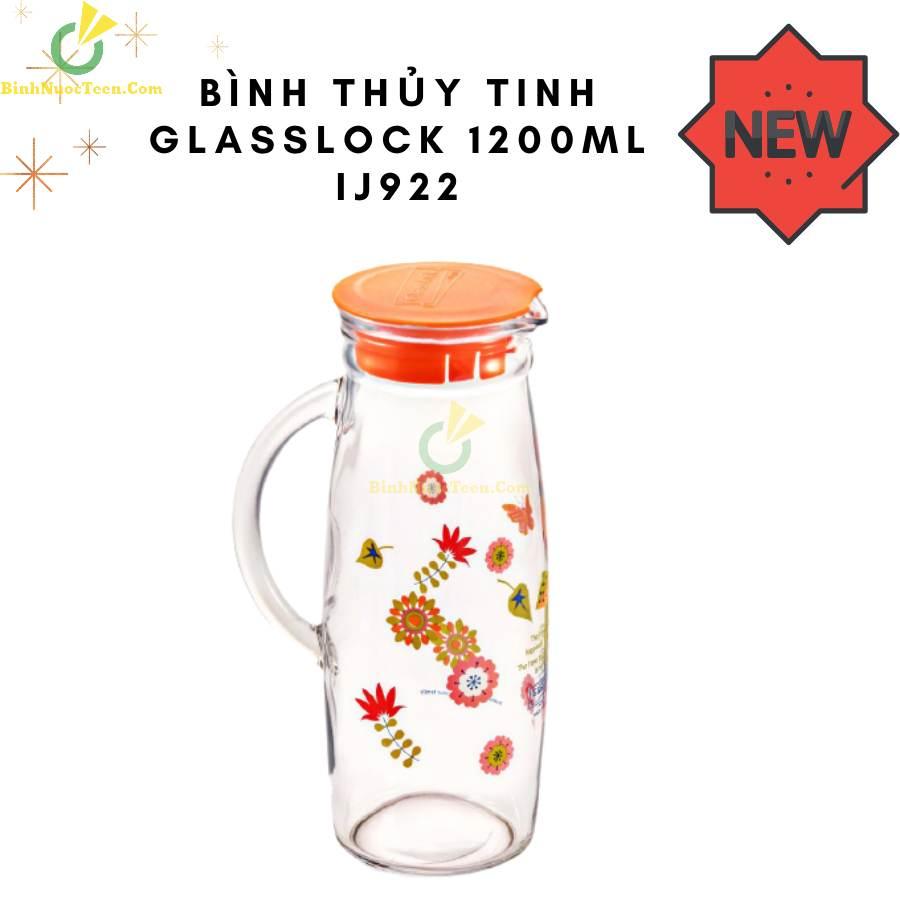 Bình Thủy Tinh Glasslock 1200ml IJ922 In Logo 1