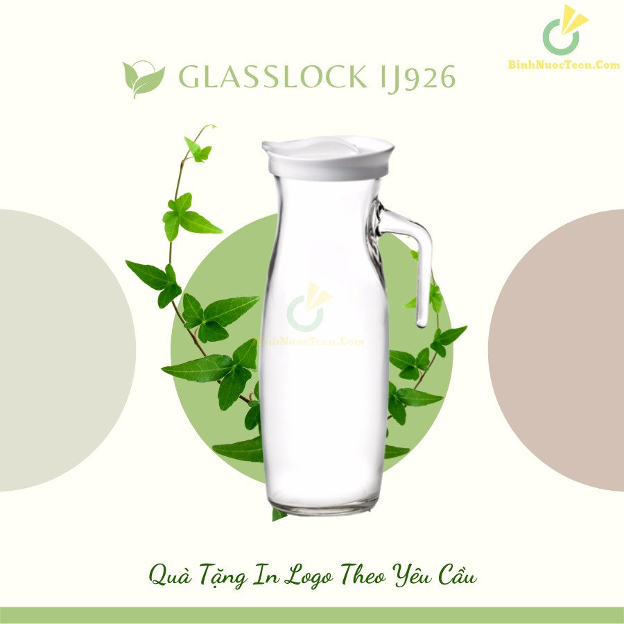 Bình Thủy Tinh Glasslock 1300ml IJ926 Quai Cầm Sang Trọng 5