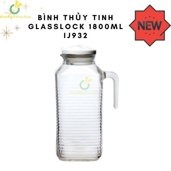 Bình Thủy Tinh Glasslock 1800ml IJ932 In Logo Sang Trọng 2