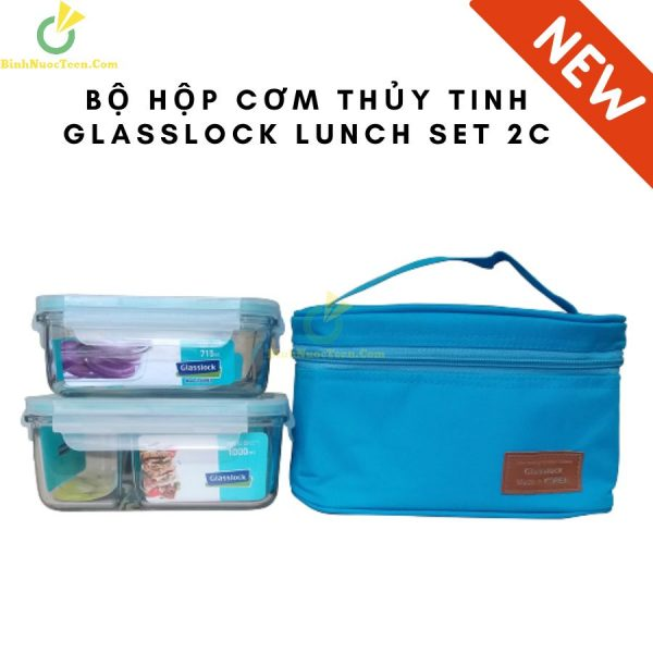 Bộ Hộp Cơm Thủy Tinh Glasslock Lunch Set 2 Hộp 2